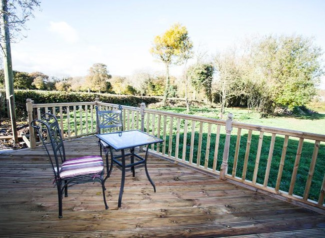 Decking with views across fields